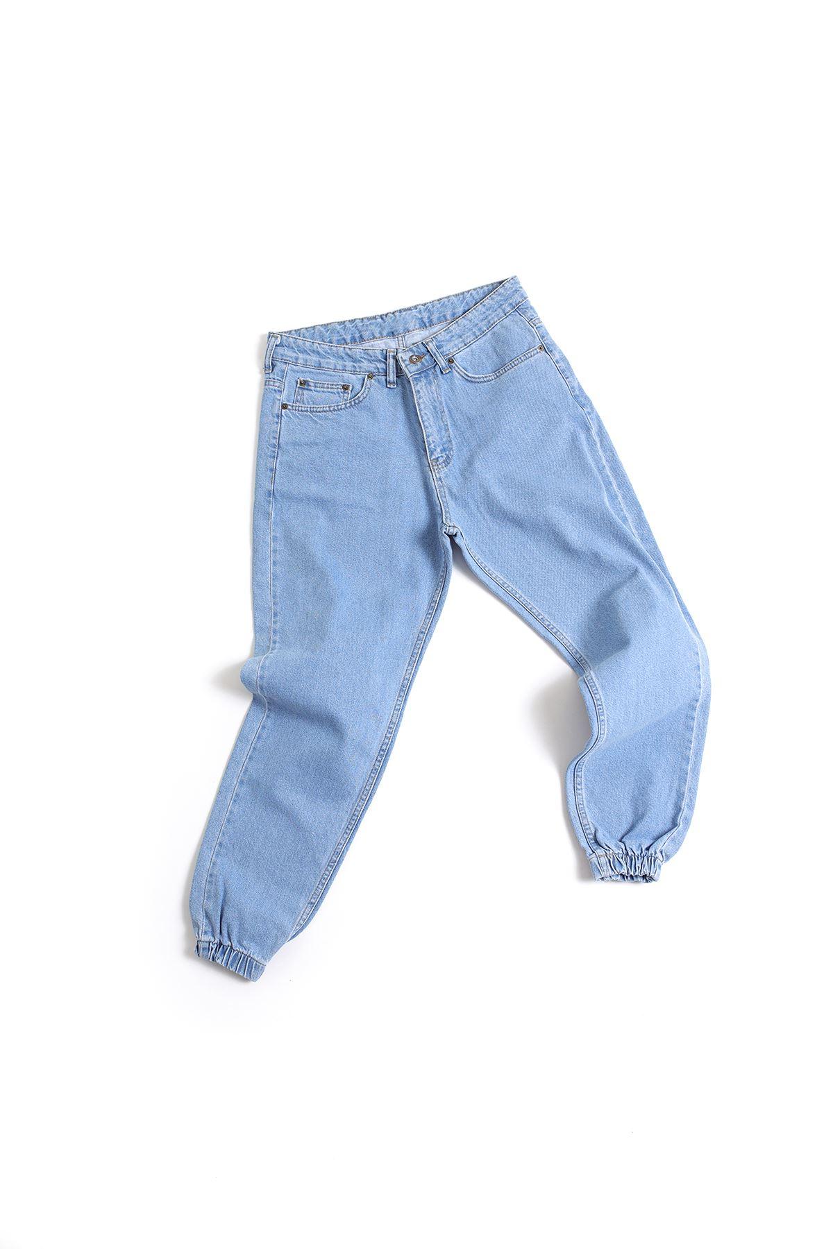 Açık Mavi Boyfriend Kot Pantolon