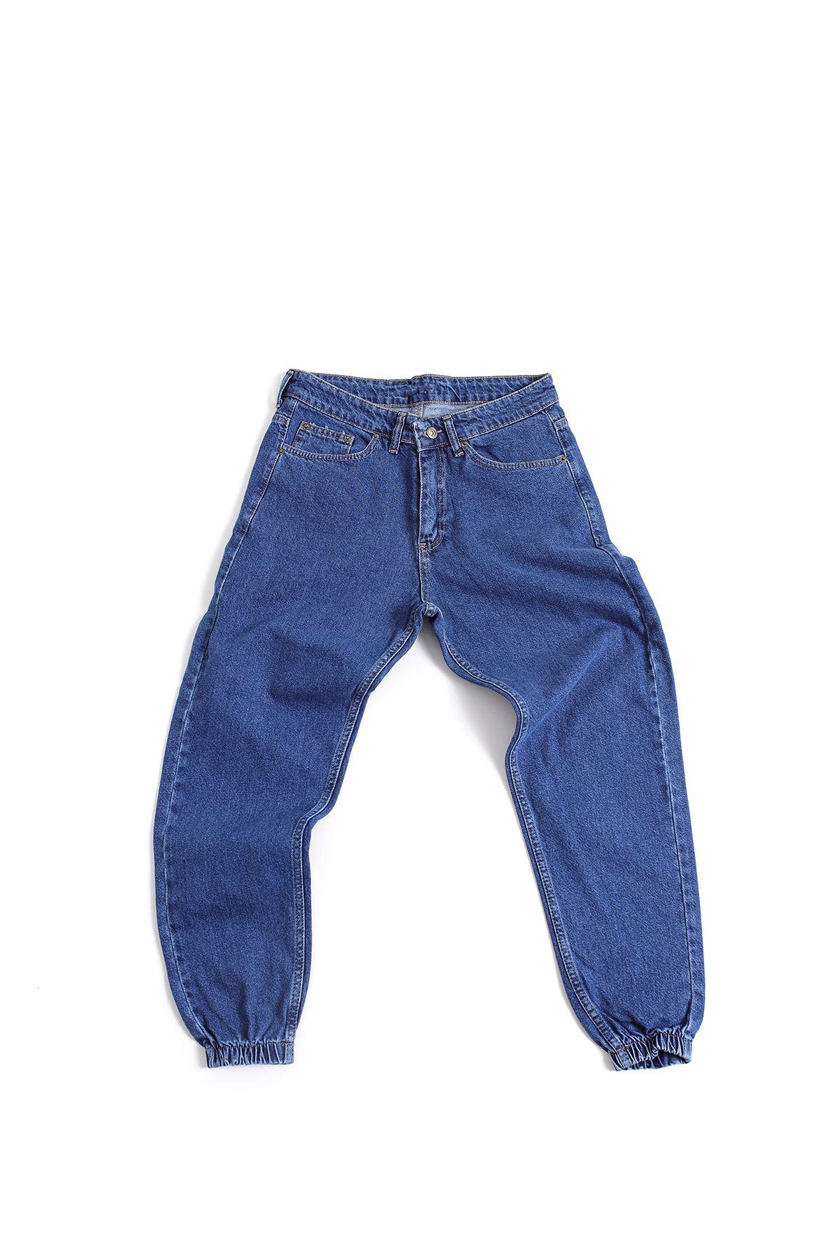 Koyu Mavi Boyfriend Kot Pantolon
