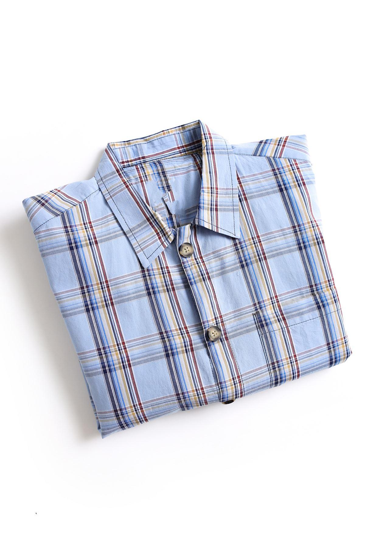 Açık Mavi İndigo Gömlek
