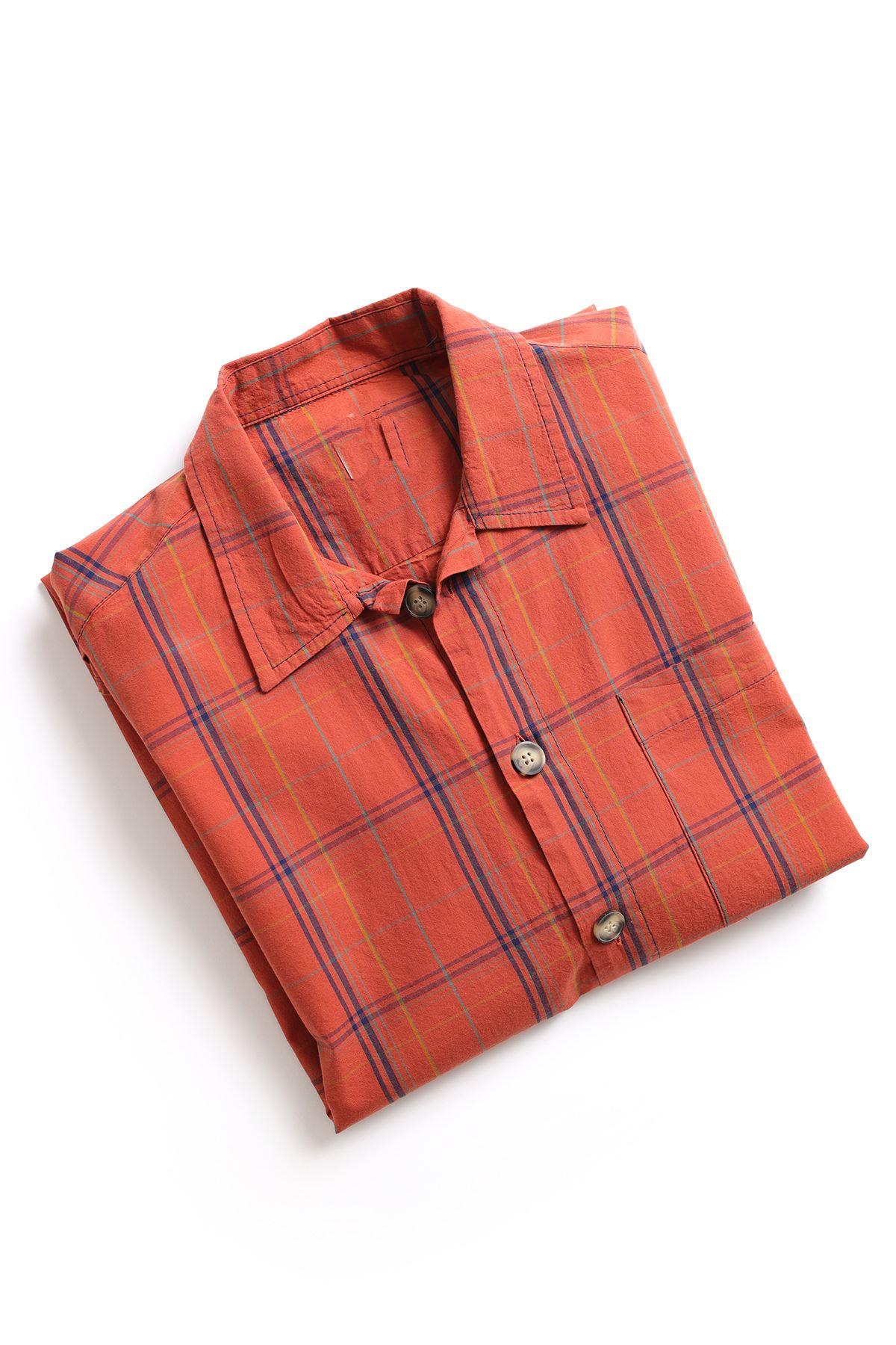Turuncu İndigo Gömlek