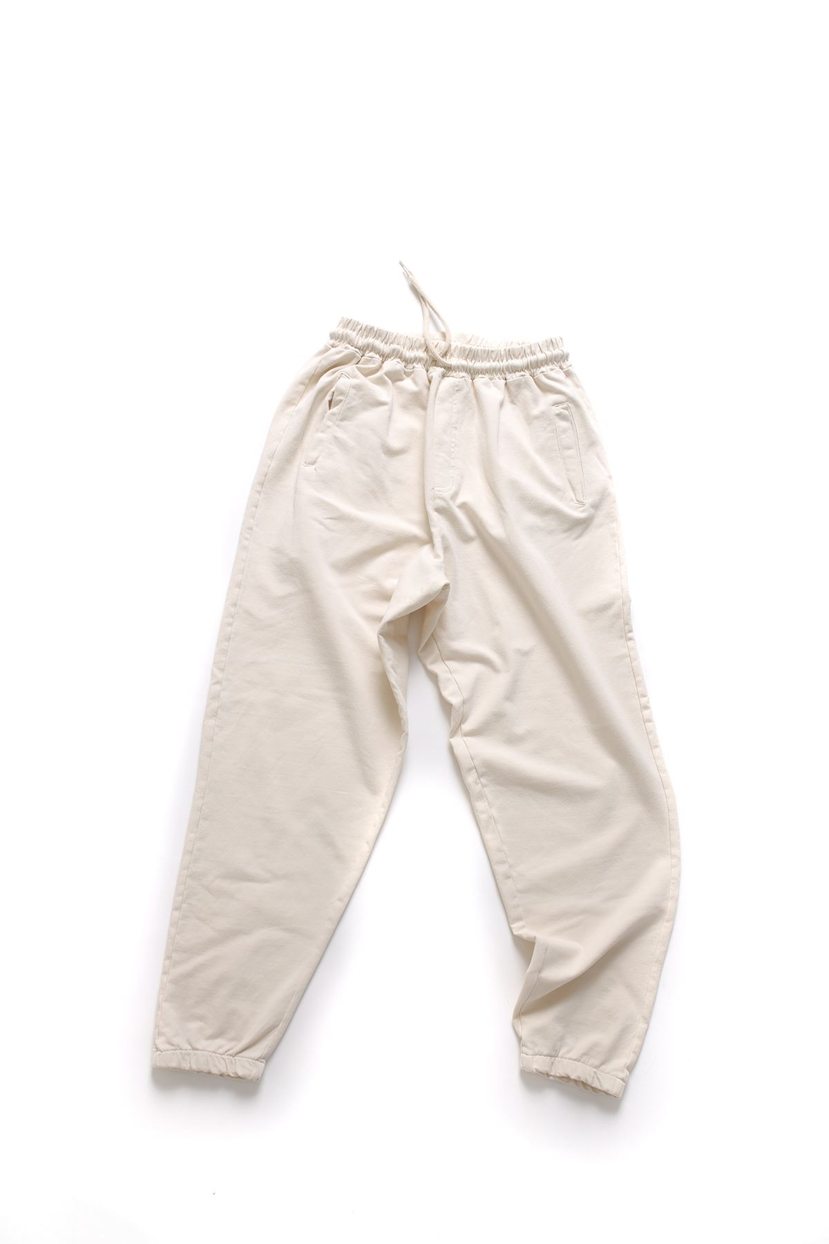 Bej Pamuklu Jogger Pantolon