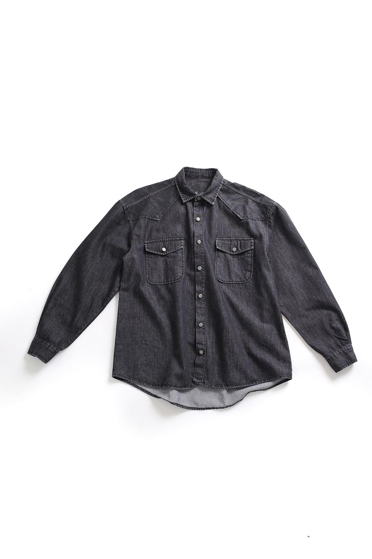 Siyah Denim Gömlek