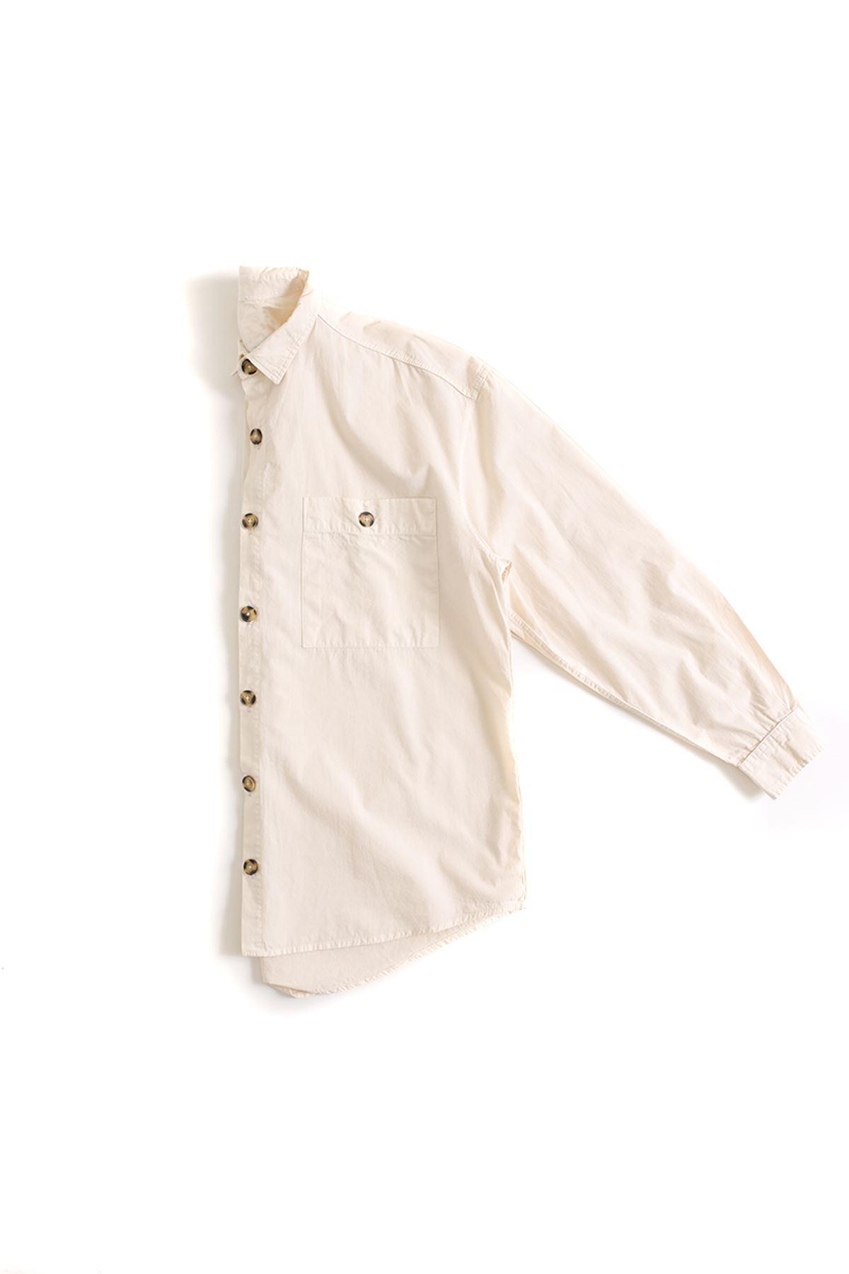 Bej Oversize Gömlek