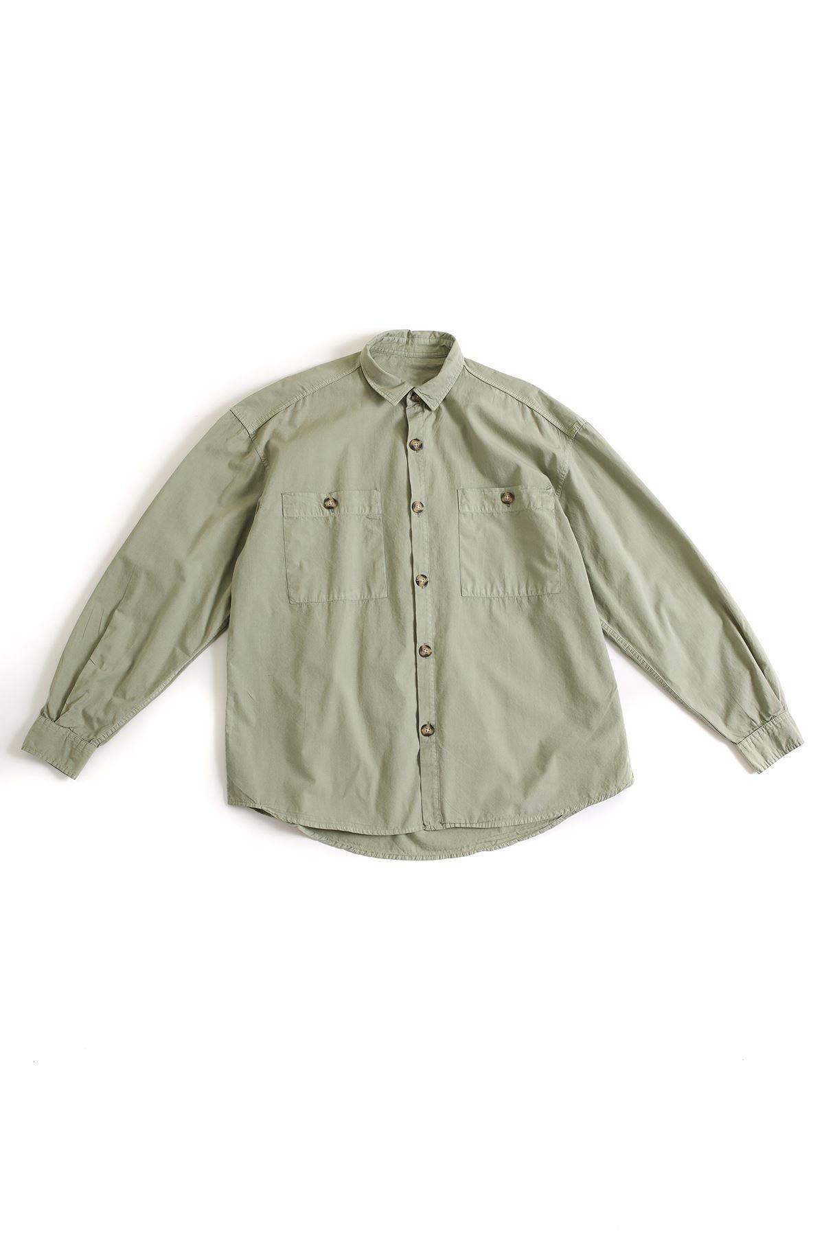Deniz Yeşili Oversize Gömlek
