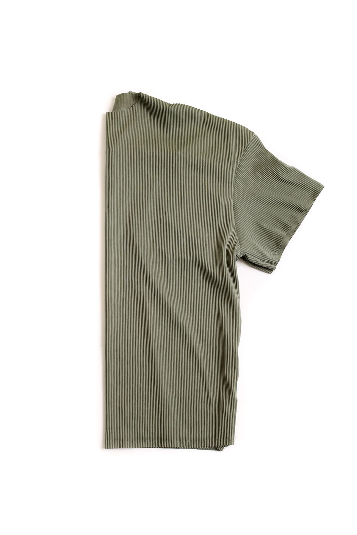 Haki Ottoman Çizgili T-Shirt