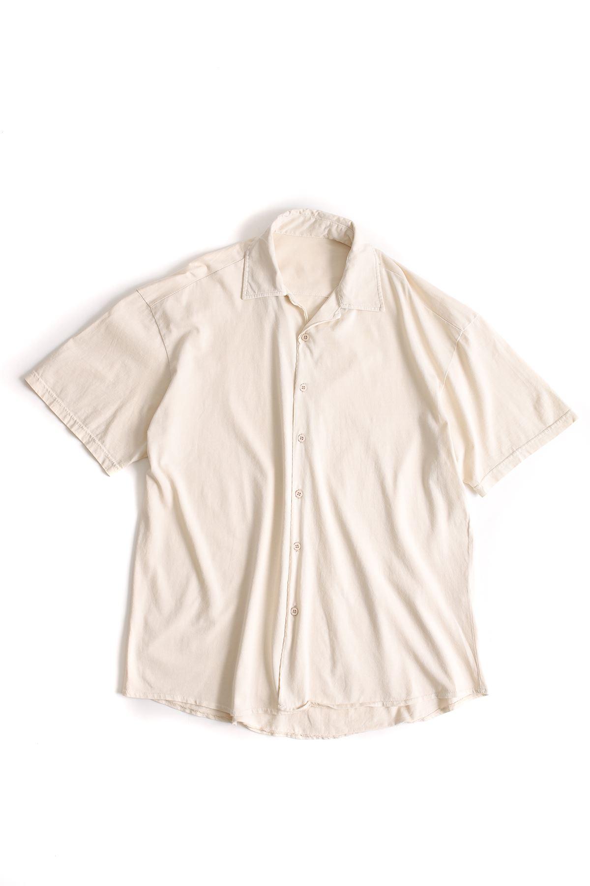 Bej Pamuklu Oversize Gömlek