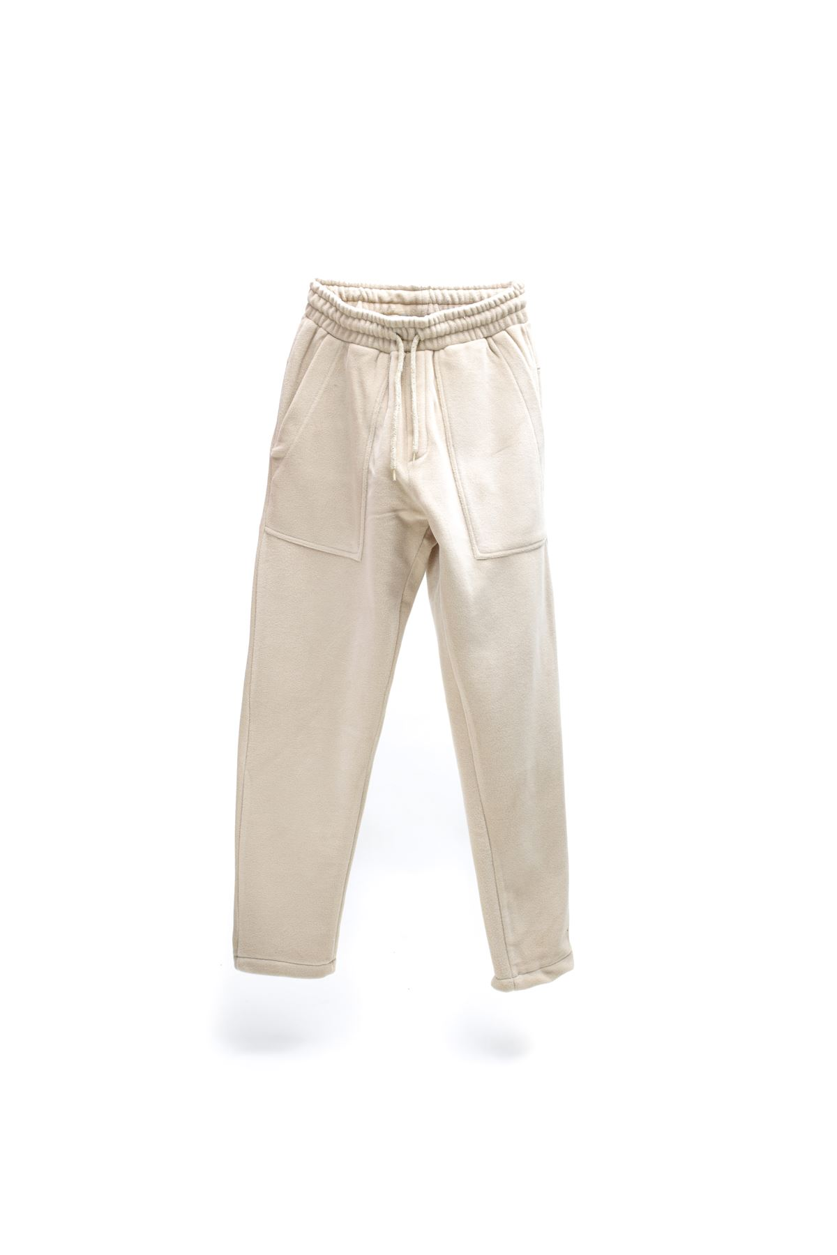 Bej Polar Jogger Pantolon