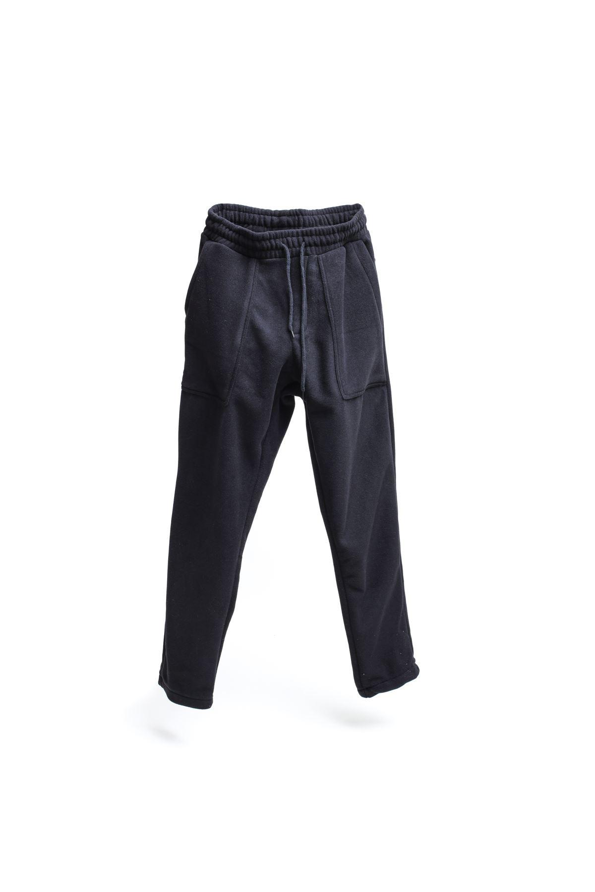 Siyah Polar Jogger Pantolon