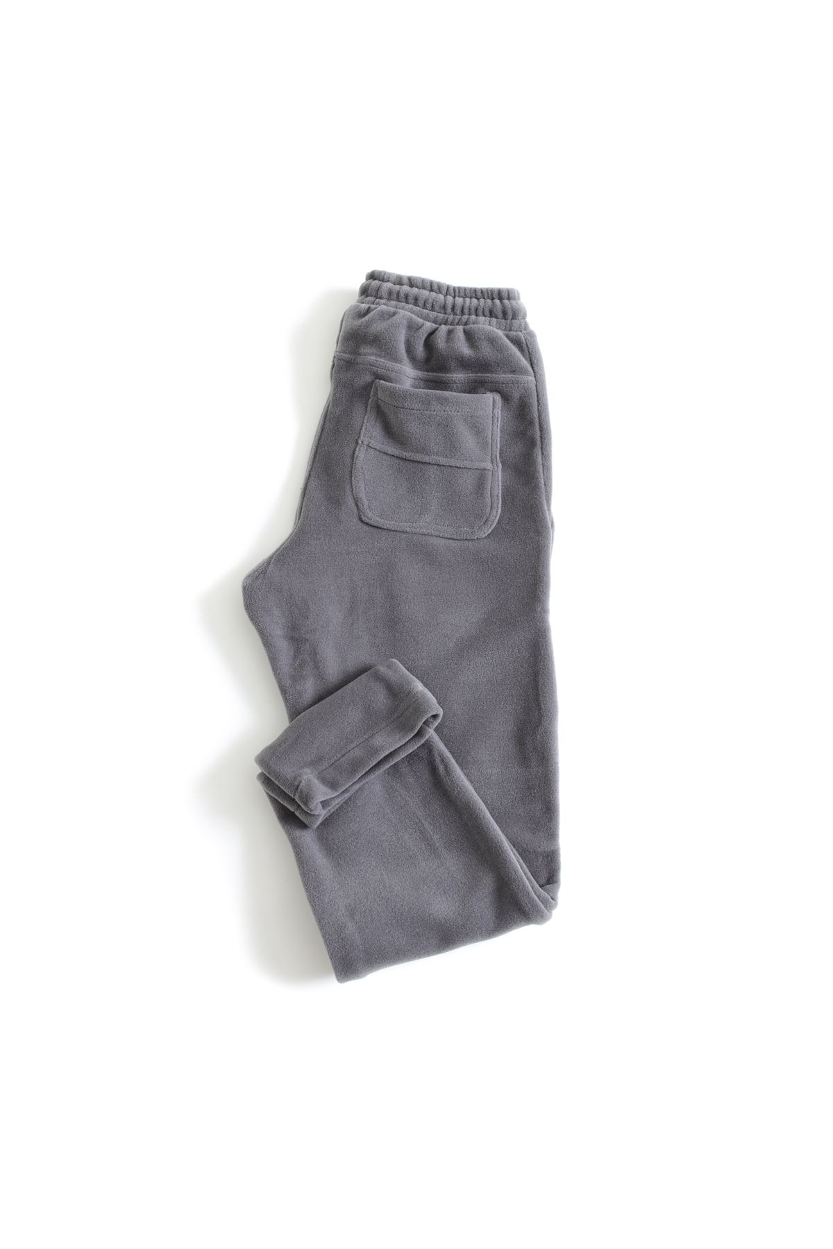 Koyu Gri Polar Jogger Pantolon