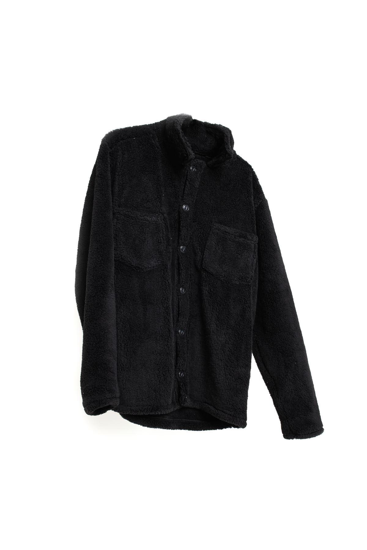 Siyah Pelüş Gömlek