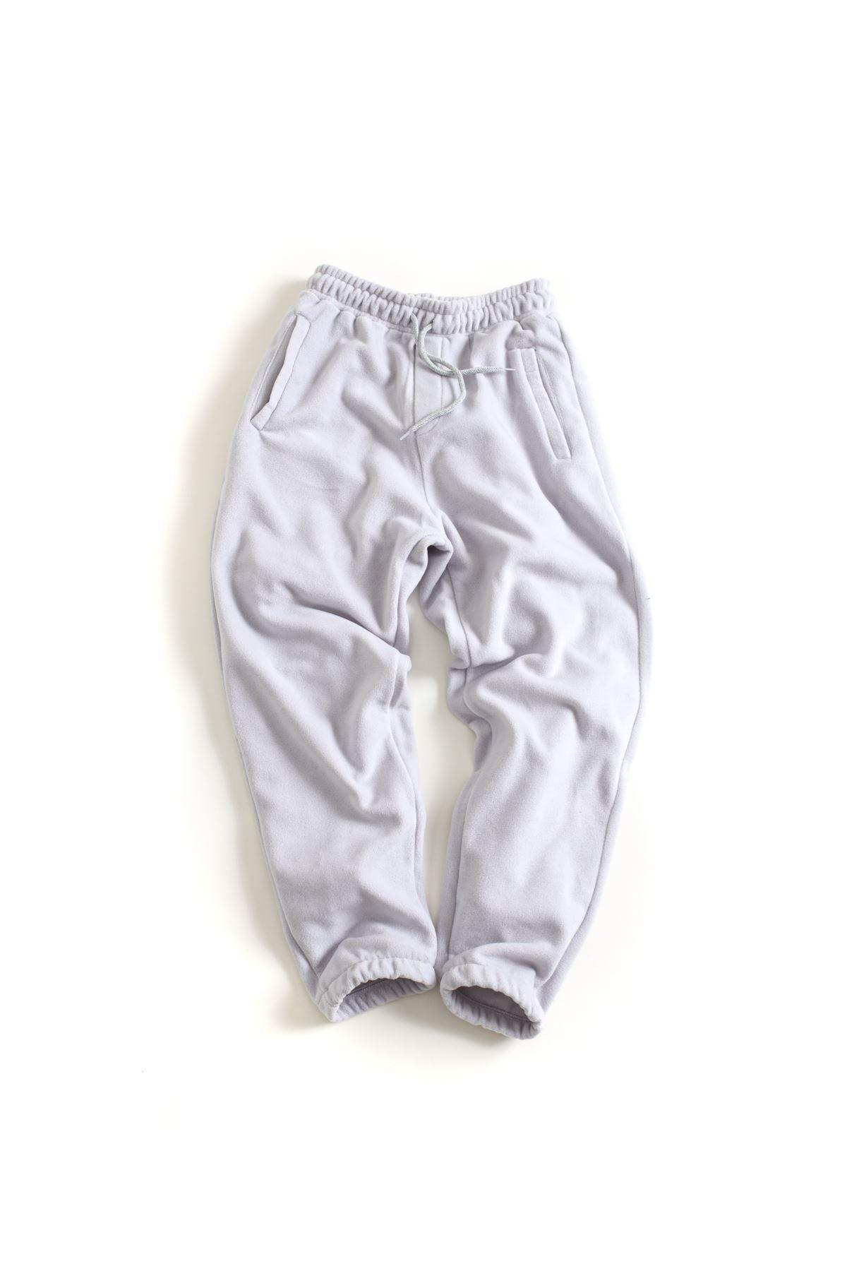 Açık Gri Polar Lastikli Paçalı Jogger Pantolon