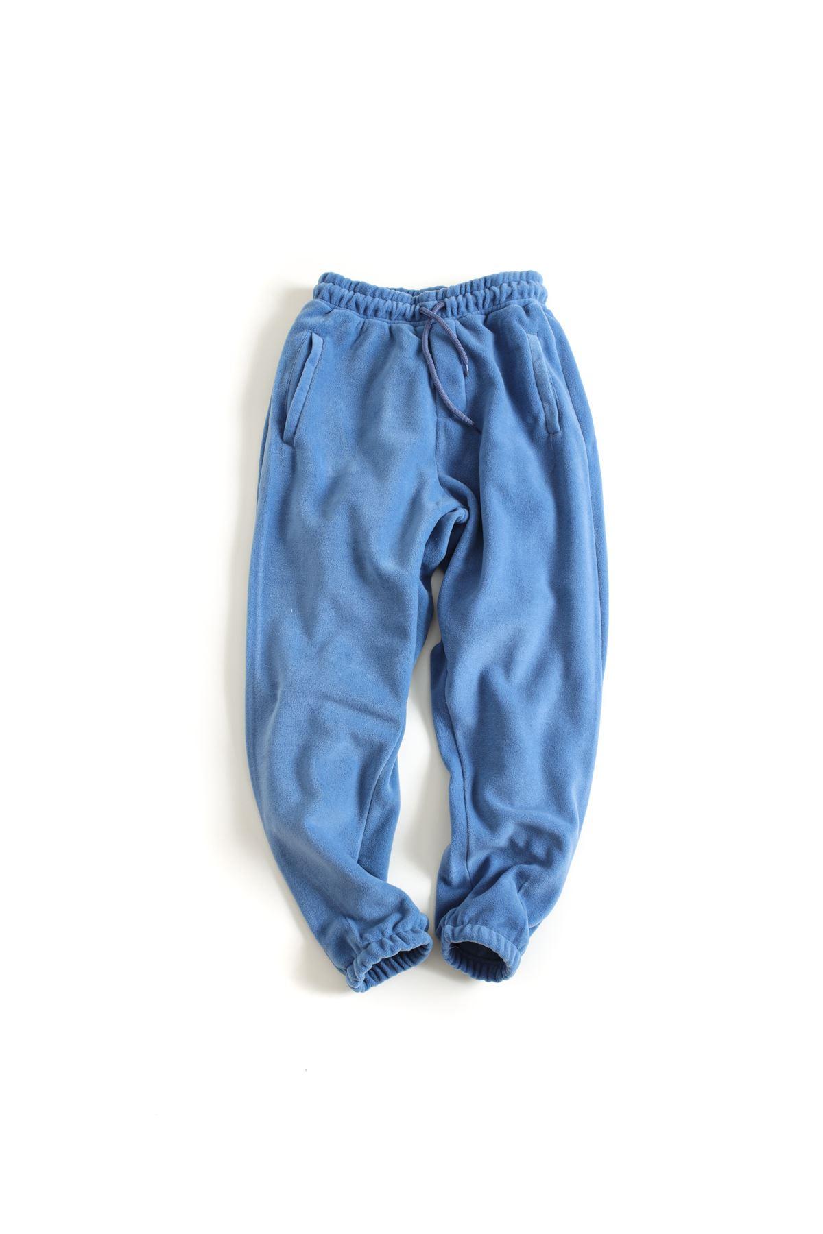 Mavi Polar Lastikli Paçalı Jogger Pantolon