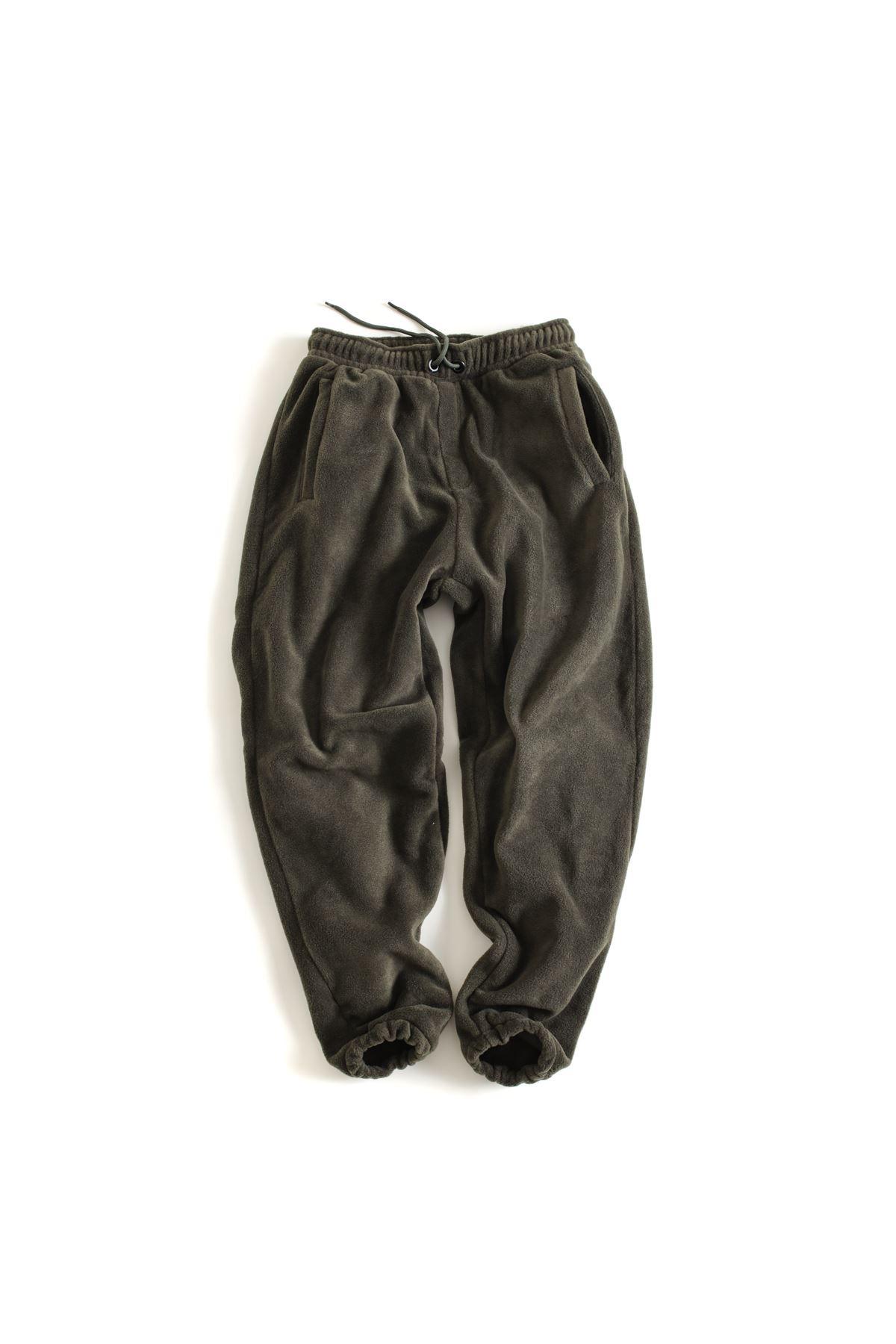 Haki Polar Lastikli Paçalı Jogger Pantolon