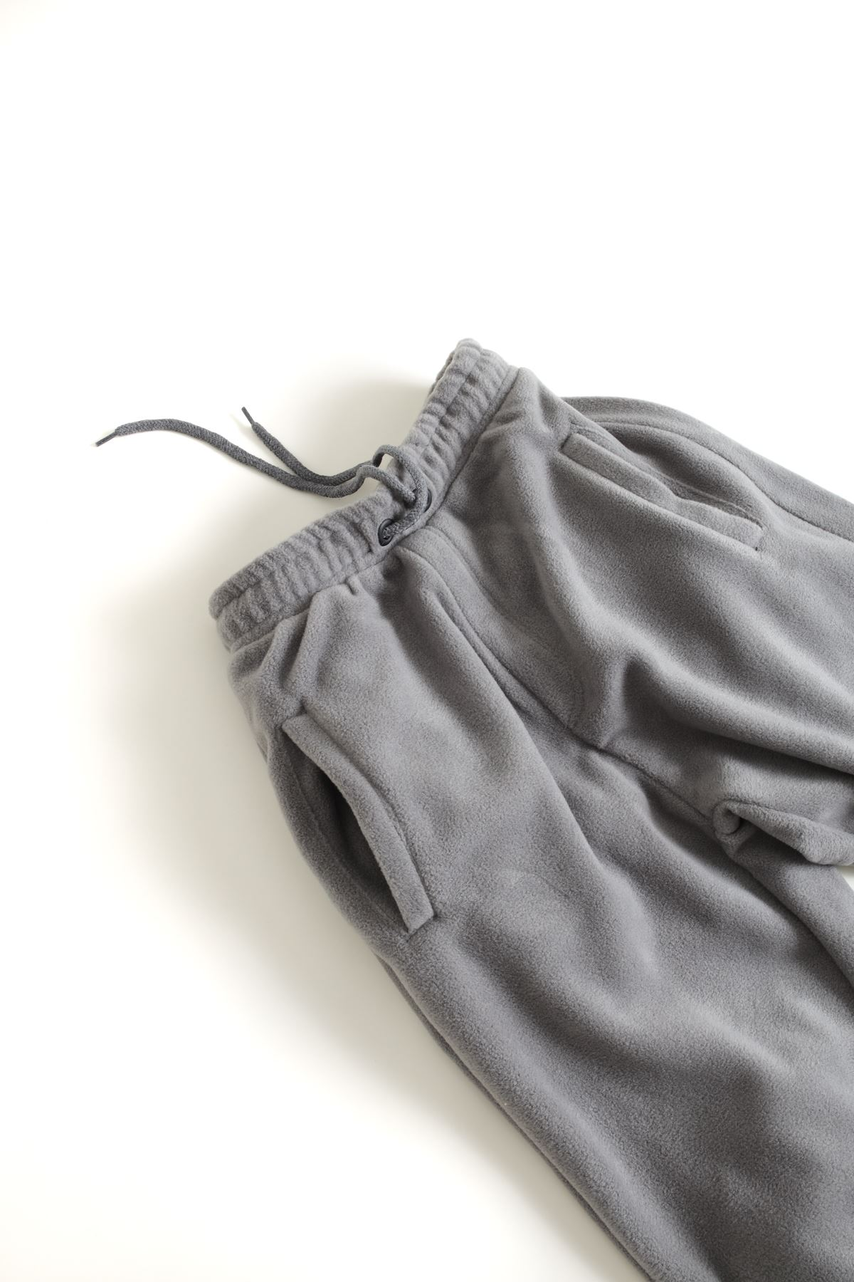Koyu Gri Polar Lastikli Paçalı Jogger Pantolon