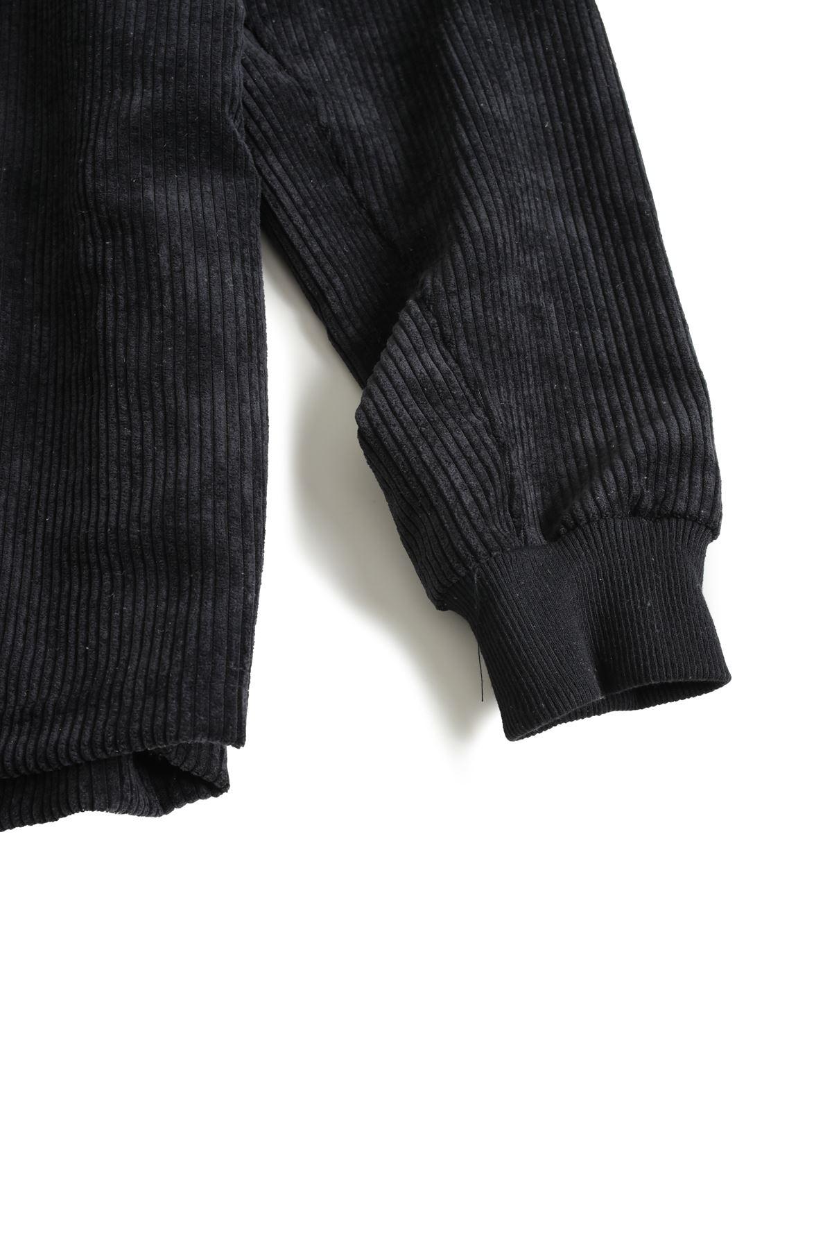 Siyah Kadife Baggy Sweat