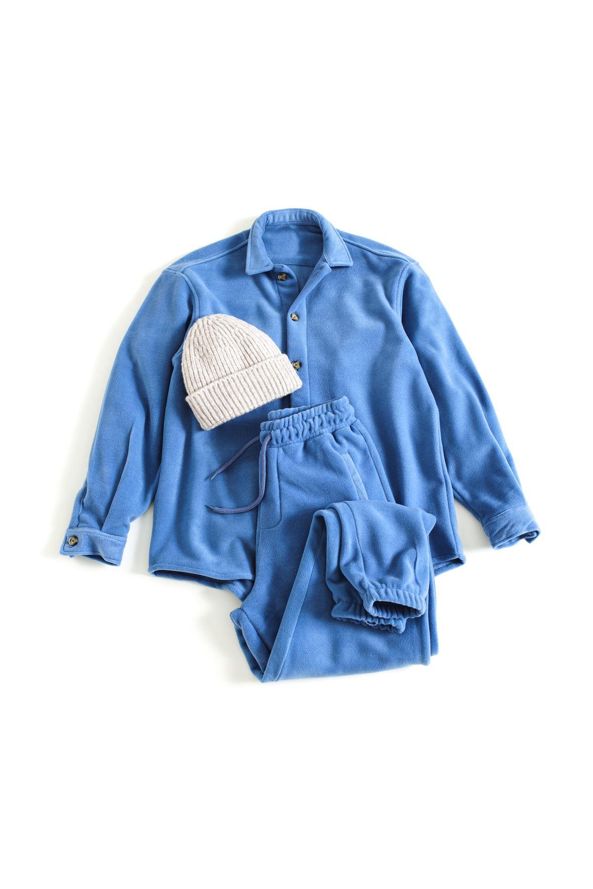 Mavi Polar Gömlek Kombin