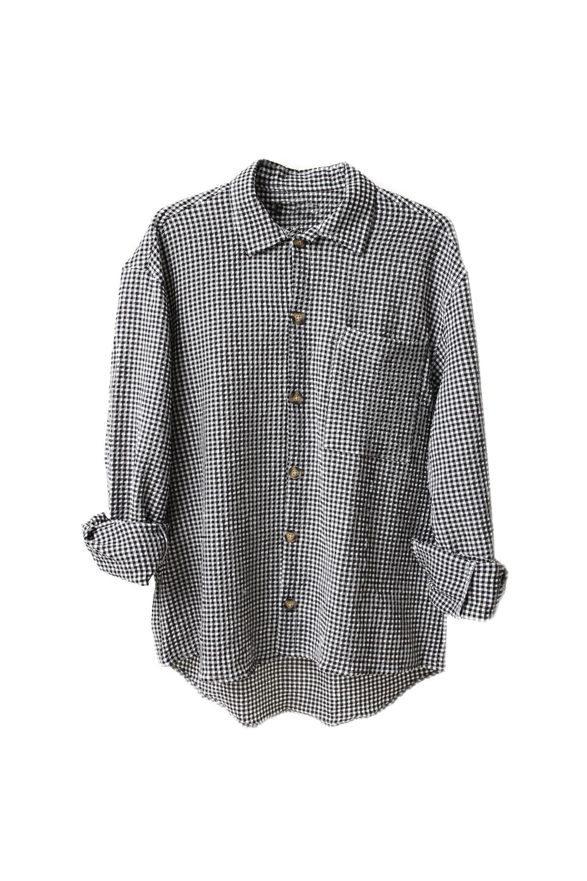 Siyah Gofre Gömlek