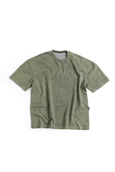 Haki Pamuklu T-Shirt