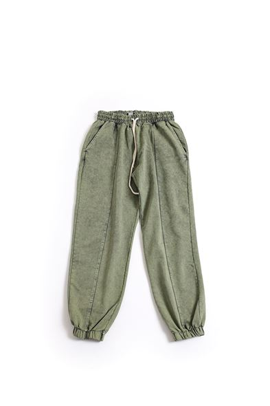 Haki Pamuklu Jogger Pantolon