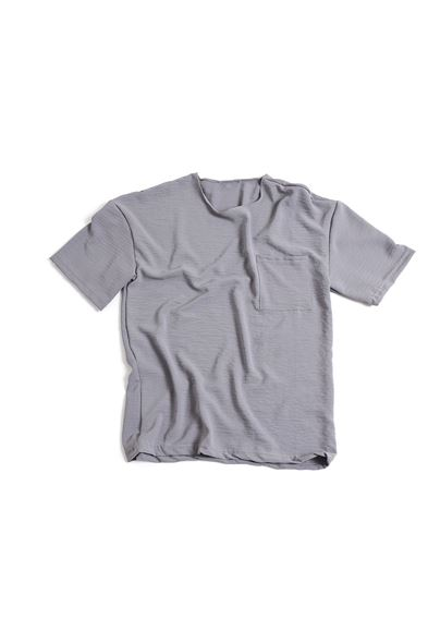 Cepli Gri Keten T-Shirt
