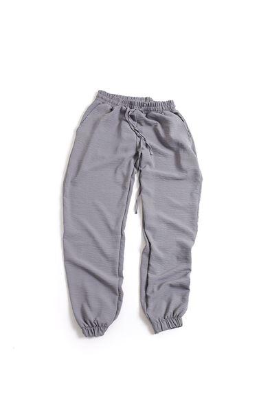 Gri Keten Jogger Pantolon