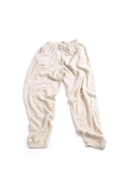 Bej Keten Jogger Pantolon