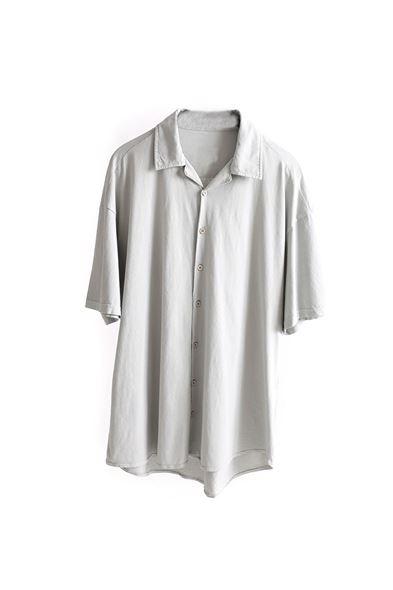 Gri Pamuklu Oversize Gömlek