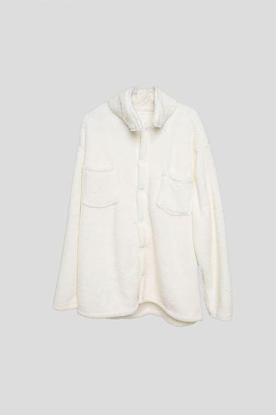 Beyaz Pelüş Gömlek